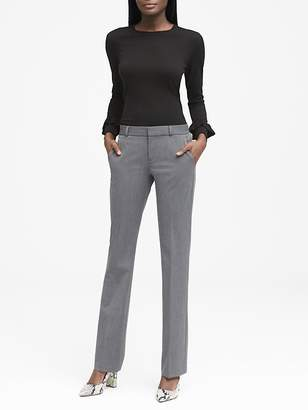 Banana Republic Petite Logan Trouser-Fit Heathered Pant