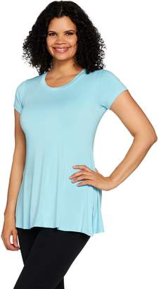 Halston H By H by Essentials Short Sleeve Knit Tunic w/ Side Slits
