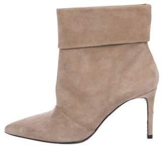 Saint Laurent Leather Embellished Ankle Boots