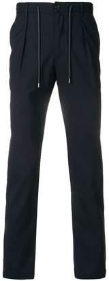 Barba drawstring straight-leg trousers