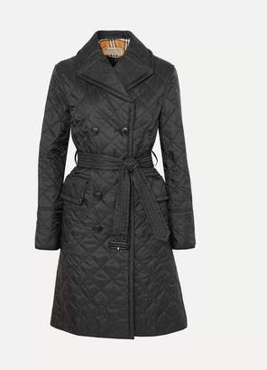 Burberry The Horberie Quilted Shell Trench Coat - Black