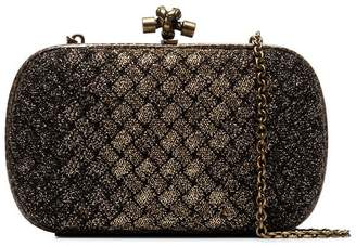 0220bf66ff6d Bottega Veneta metallic knot detail woven clutch bag