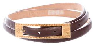 MCM Leather Buckle Belt
