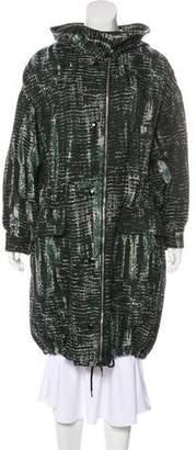 Stella McCartney Hooded Tweed Coat