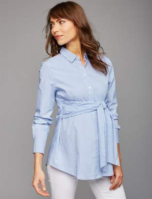 Isabella Oliver Pea Collection Button Front Maternity Shirt