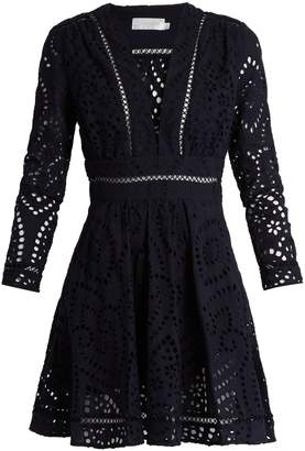 ZIMMERMANN Ryker broderie-anglaise cotton dress $494 thestylecure.com