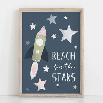 Rory & The Bean Reach For The Stars Children's Nursery Print
