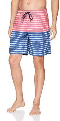 Izod Men's Printed Swim Trunks