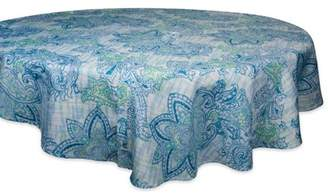 "Dii DII Round Watercolor Paisley Print Outdoor Umbrella Tablecloth, 60""x60"", 100% Polyester, Multiple Sizes/Shapes"