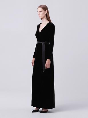 Julian Long Velvet Wrap Dress $598 thestylecure.com
