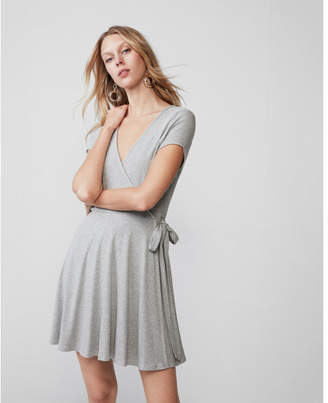 Express ribbed wrap dress