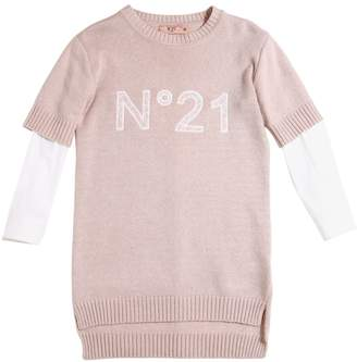 N°21 Wool Blend Knit Dress