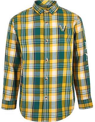 River Island Boys green venti check shirt