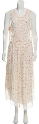 Band Of Outsiders Floral Print Silk Dress