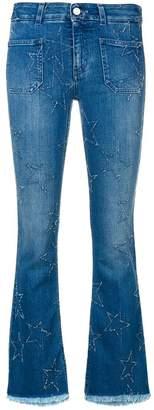 Stella McCartney star patch flare jeans