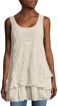 Le Marais Women's Embroidered Layered Tank Top