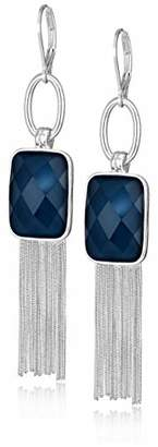 Nine West Women's Silver-Tone and Tassel Drop Earrings