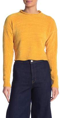 Absolutely Cotton Roll Neck Chenille Sweater