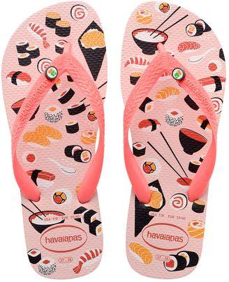Top Honey Sushi Rubber Flip Flops $24 thestylecure.com