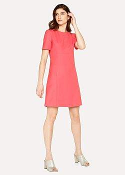 Paul Smith Women's Coral Wool Shift Dress