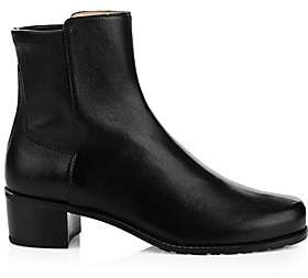 Stuart Weitzman Women's Easyon Reserve Leather Ankle Boots