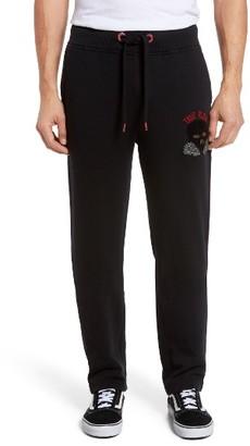 Men's True Religion Brand Jeans Rising Sun Embroidered Sweatpants $169 thestylecure.com