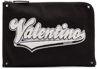Valentino Logo-appliqué document holder