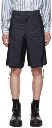 Prada Navy Nylon Side Zip Shorts