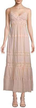 Rebecca Taylor Women's Lace Eyelet Maxi Dress