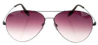 Victoria Beckham Aviator Mirrored Sunglasses green Aviator Mirrored Sunglasses