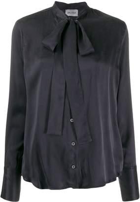 Balossa White Shirt tied neckline blouse