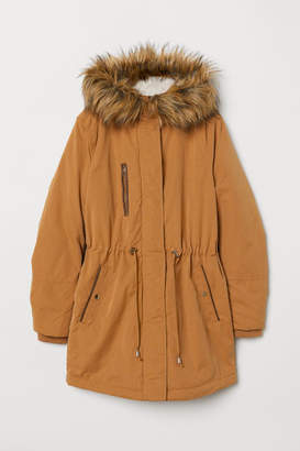 H&M Padded Parka with Hood - Beige