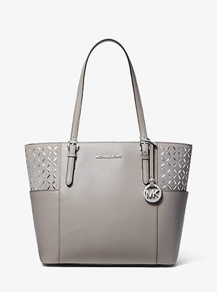 Michael Kors Jet Set Large Embellished Leather Tote