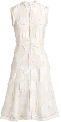 H&M Jacquard-patterned dress - White