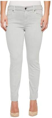 Liverpool Petite Penny Ankle Skinny in Slub Stretch Twill in Fossile Grey Women's Jeans