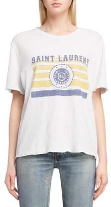 Saint Laurent University Graphic Tee