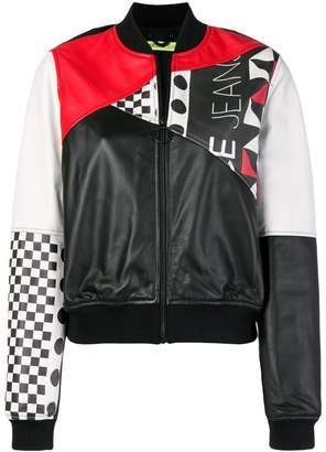 Versace colour-block bomber jacket