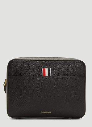 Pebbled Leather Dopp Kit Pouch in Black
