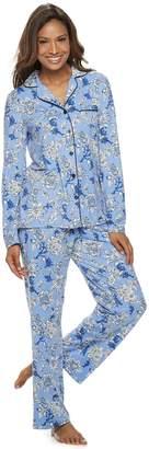 Croft & Barrow Women's Long Sleeve Pajama Set