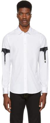 Moschino White Poplin Garter Shirt