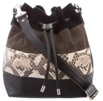 Proenza Schouler Python-Trimmed Bucket Bag Black Python-Trimmed Bucket Bag