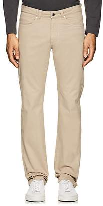 Piattelli MEN'S STRETCH-COTTON BROKEN TWILL PANTS