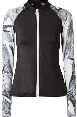 Duskii - Cancun Printed Neoprene Rash Guard - Black