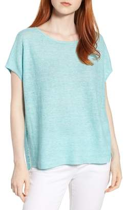 Eileen Fisher High/Low Poncho Top