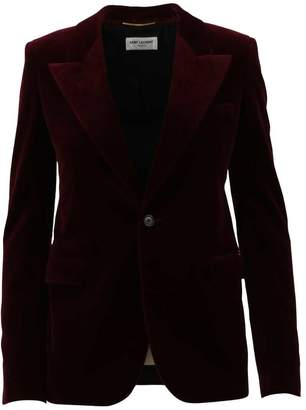 Saint Laurent Single-breasted Burgundy Blazer