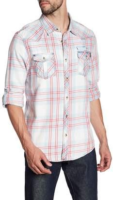 Triple Five Soul Plaid Western Yoke Regular Fit Shirt