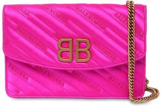 Balenciaga Bb Chain Wallet Satin Bag