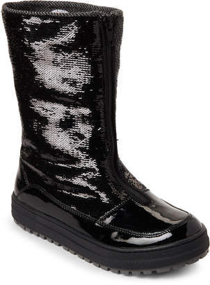 Naturino Kids Girls) Black Amity Sequin All-Weather Boots