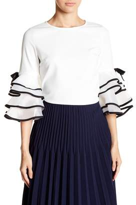 Gracia Tiered Bell Sleeve Blouse
