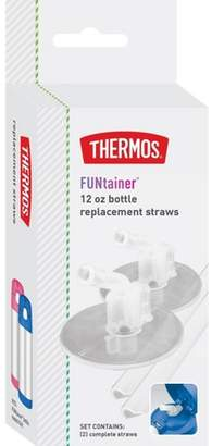 Thermos 12oz Bottle Replacement Straws - Clear